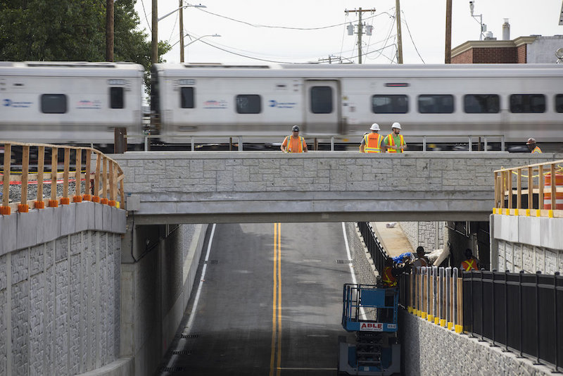 New underpass for traffic, pedestrian safety opens at LIRR